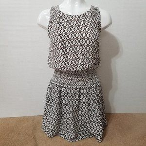 Joie dress XS Lawska leopard geometric sleeveless